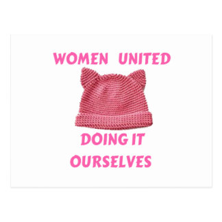 WOMEN'S MARCH UNTIED DOING IT OURSELVES POSTCARD
