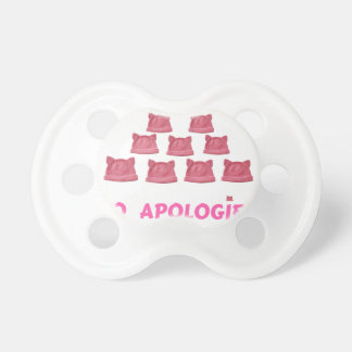 WOMEN'S MARCH WE RISE  NO APOLOGIES BABY PACIFIERS