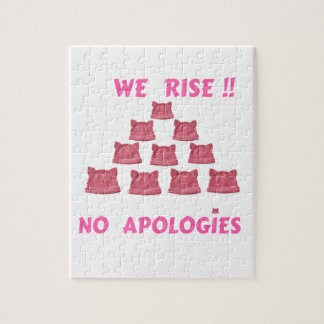 WOMEN'S MARCH WE RISE  NO APOLOGIES JIGSAW PUZZLE