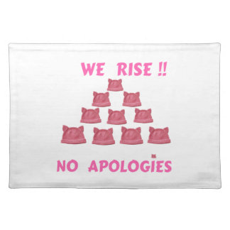 WOMEN'S MARCH WE RISE  NO APOLOGIES PLACEMAT