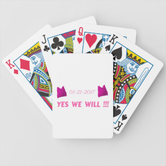 WOMEN'S MARCH  YES WE WILL BICYCLE PLAYING CARDS