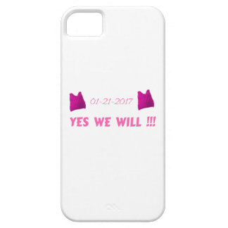 WOMEN'S MARCH  YES WE WILL iPhone 5 COVER