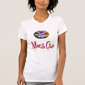 Women's Mardi Gras t-shirt with Lips