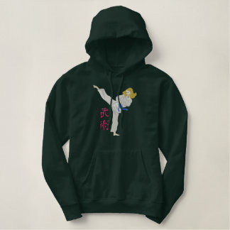 Women's Martial Arts Embroidered Hoodie