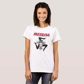 Women's Medusa Snake Red Hot Shirt Basic White