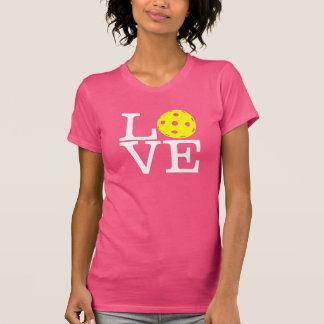 """Women's Mom Pickleball T-shirt: """"LOVE"""" (Pink) T-Shirt"""