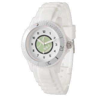 Women's Monogram Tennis Watch Silicon Bracelet