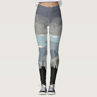 """Women's """"Monsoon In Paint"""" Leggings"""