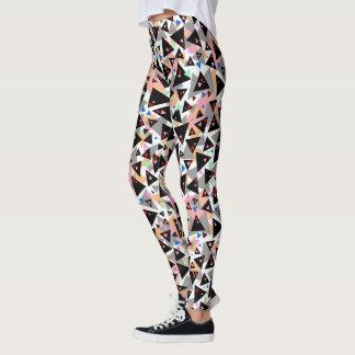 Women's Multi Colored Triangle Leggings