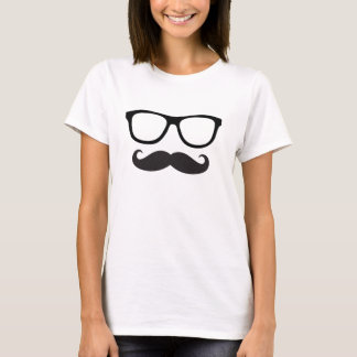 Women's Mustache Hipster Tee