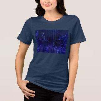 Women's Navy T-Shirt - Purple Digital Music Image