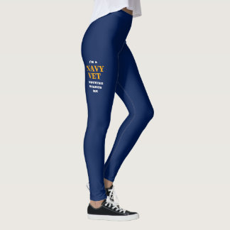 "WOMEN'S ""NAVY VET"" SPANDEX LEGGINGS"