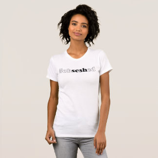 """Women's """"#obseshed"""" White Jersey T-Shirt"""