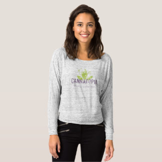 Women's Off Shoulder Cannatopia Smoke Logo Shirt