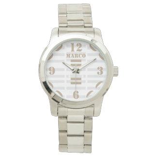 Women's Oversized Silver Bracelet Watch