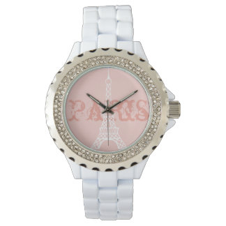 Women's Paris Eiffel Tower Pink Watch Gift