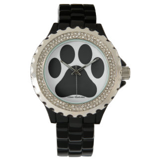 Women's Paw Print Pattern Rhinestone Watch