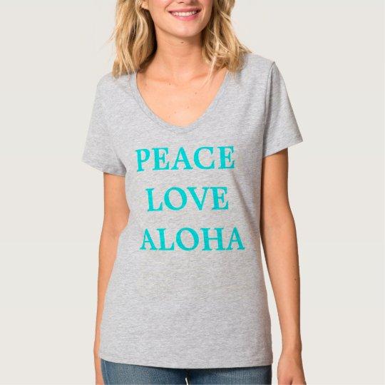 Womens Peace Love Aloha t-shirt size Medium