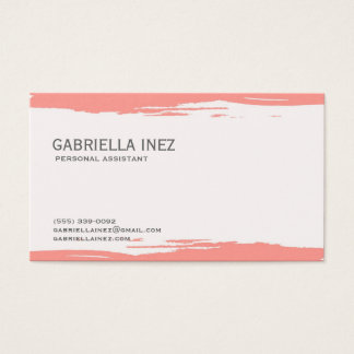 Women's Peach Watercolor Business Cards