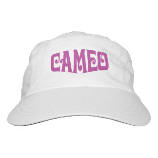 Women's Performance Hat with Pink Cameo Logo