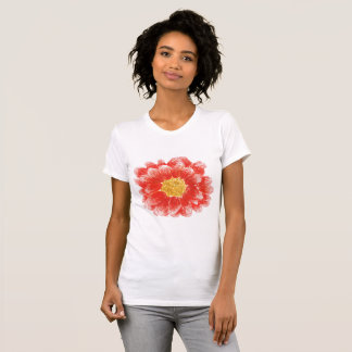 Women's Pink Chrysanthemum Flower T-Shirt