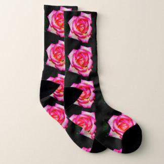 Women's Pink Rose Socks 1