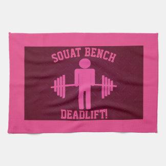 Women's Pink Weightlifting Gym Towel