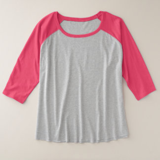 Women's Plus-Size 3/4 Sleeve Raglan T-Shirt
