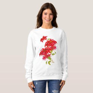 Women's Poinsettia Sweat Shirt