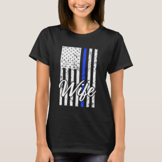 Women's Police Officer Wife Thin Blue Line Shirt