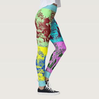 Women's Pop Art Custom Cow Leggings. Leggings