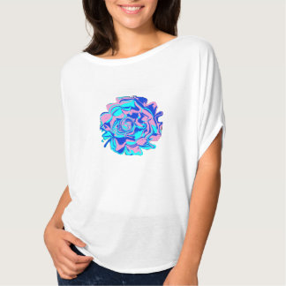 Womens' Psychedelic Flower Bella Flowy Top Tee Shirt