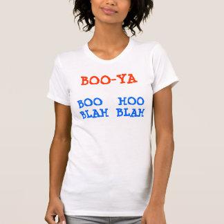 Women's Racerback T-Shirt BOO-YA BOO  - HOO BLAH
