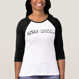 Women's Raglan T-shirt - Black iSchool logo