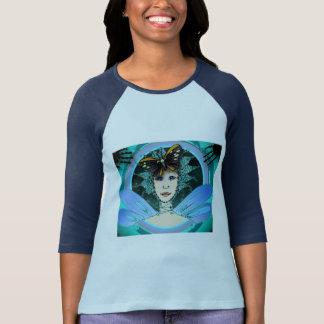 Women's Raglan T-Shirt with Cyan Fairy & Butterfly