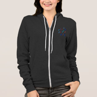 Women's raglan zip hoodie with feathers