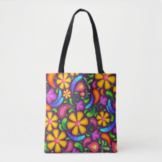 Women's rainbow color abstract bag