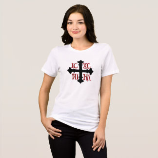 Women's Relaxed Fit ICXC NIKA Cross Cotton T-Shirt