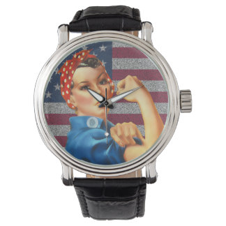 Womens Retro Rosie the Riveter Watch