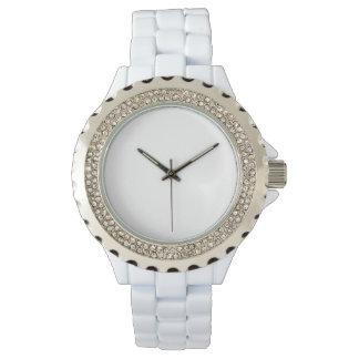 Women's Rhinestone White Enamel Watch