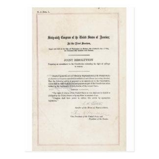 Women's Right to Vote- 19th Amendment Postcard