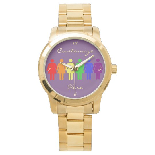 women's rights 2017 LGBTQIA Thunder_Cove Wristwatch