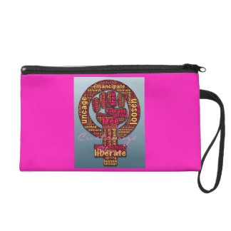 women's rights 2017 raised fist Thunder_Cove Wristlet