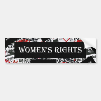 WOMEN'S RIGHTS BUMPER STICKER