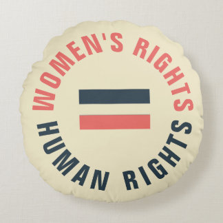 Women's Rights Equal Human Rights Feminist Round Pillow
