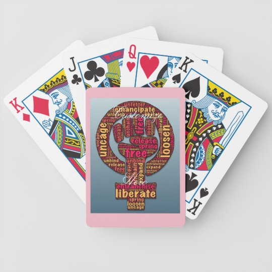 women's rights LGBTQIA raised fist Bicycle Playing Cards