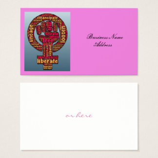 women's rights LGBTQIA Thunder_Cove Business Card