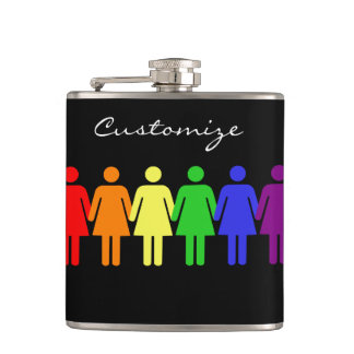 women's rights LGBTQIA Thunder_Cove Hip Flask