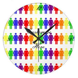 women's rights LGBTQIA Thunder_Cove Large Clock