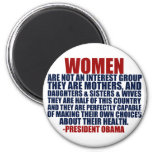 Women's Rights Obama Quote 2 Inch Round Magnet